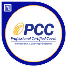 Professional Certified Coach badge from International Coaching Federation